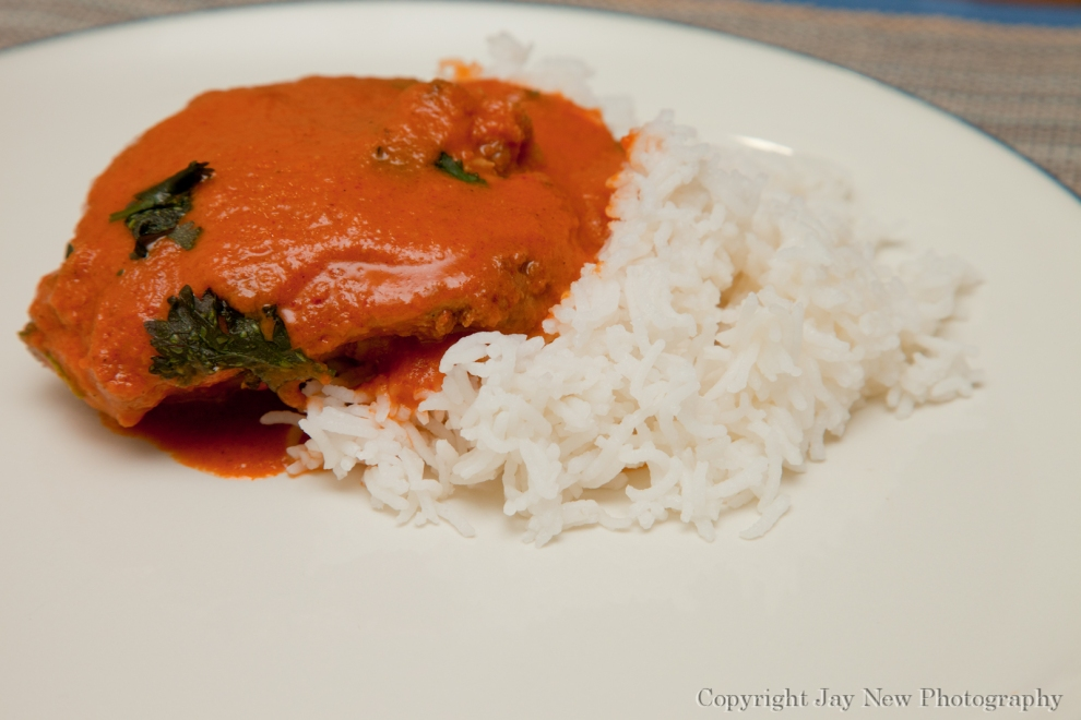 Butter Chicken and a bed of Basmati Rice
