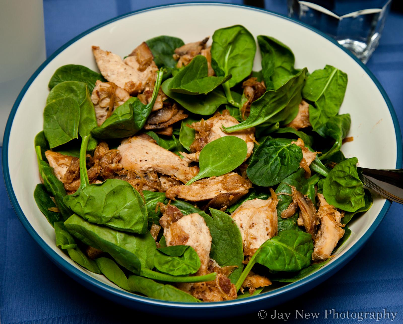 Chicken and Spinach Salad – Gluten Free | Samina Cooks